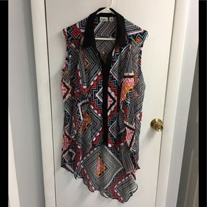 ❤️Cato gorgeous colorful ruffle button shirt